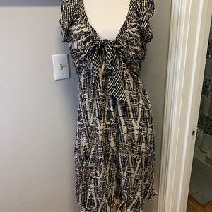 NWOT BCBGMAXAZRIA Silk Dress Black & White, Medium